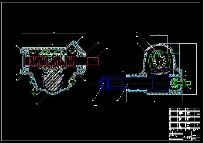 能把循环球转向器的零件图装配图发份到zhao图片