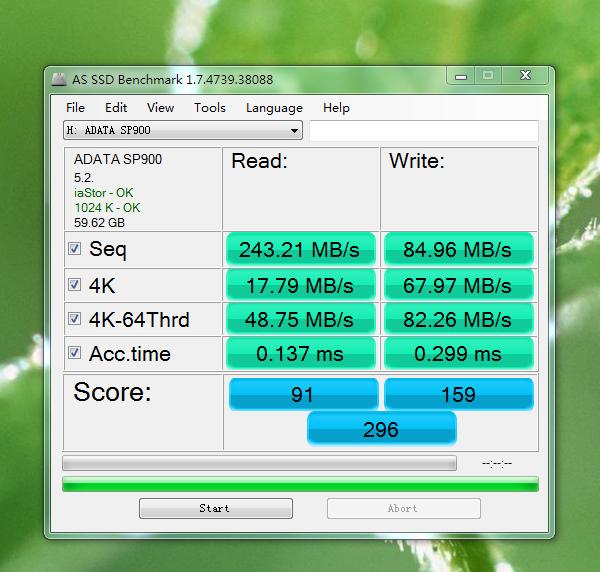 威刚sp900 读写速度怎么回事