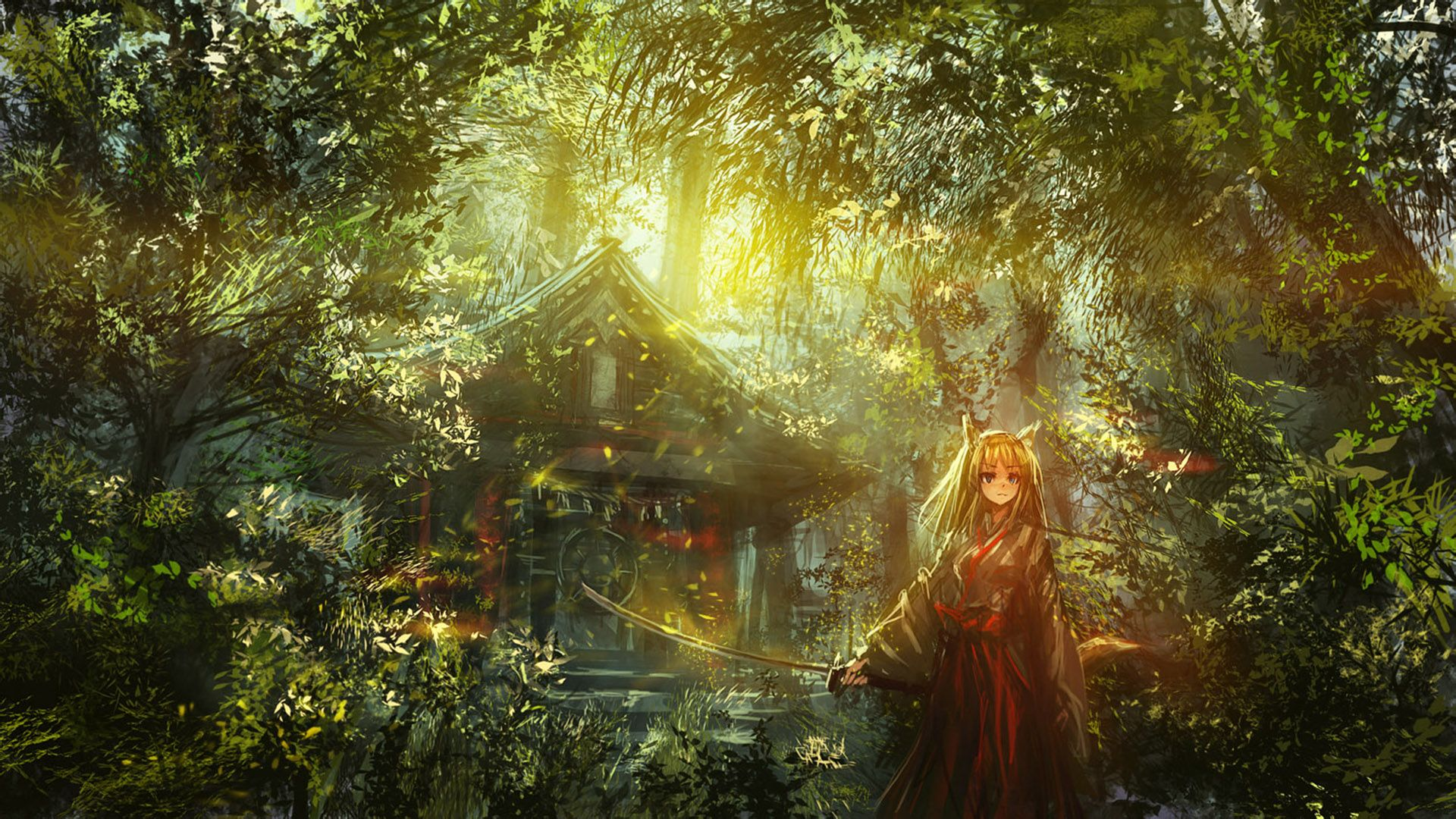 森林高清背景壁纸1920分享展示图片