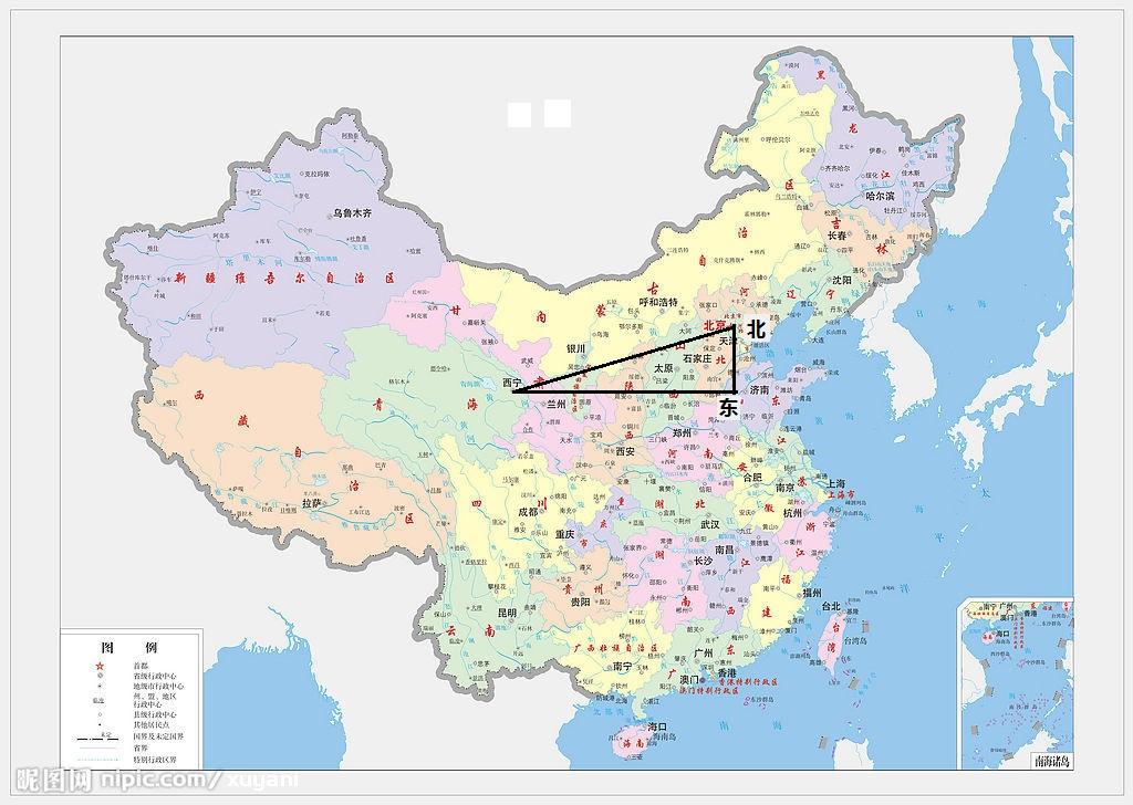 北京到青海湖地图