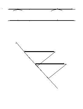 利用下面的已知线段,分别画一个长方形和一个平行四边形.图片