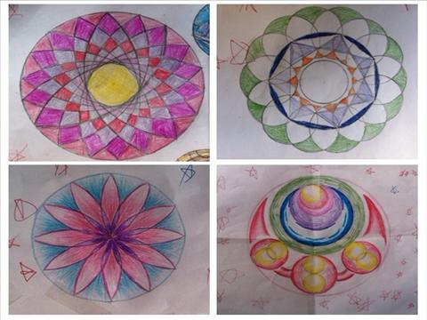 圆形画出美丽图案图片