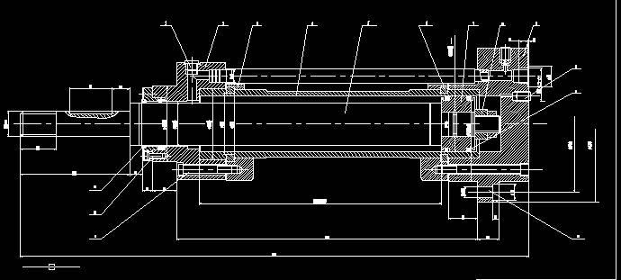 工作时液压油在活塞两侧来回流动,流动时要通过节流孔,单向阀,背压阀图片