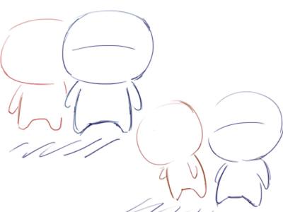 手绘q版小人简笔画