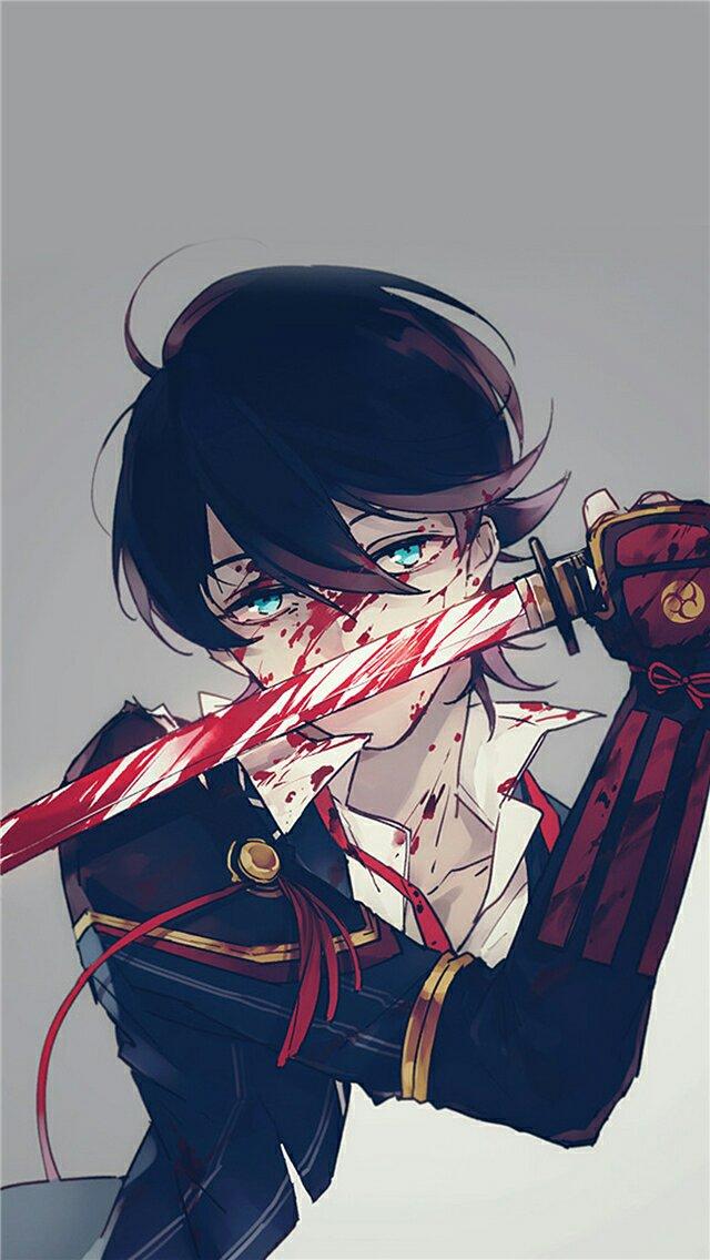 蓝眼动漫男生_动漫里的蓝眼睛,黑发,拿着东洋刀的男生是谁?