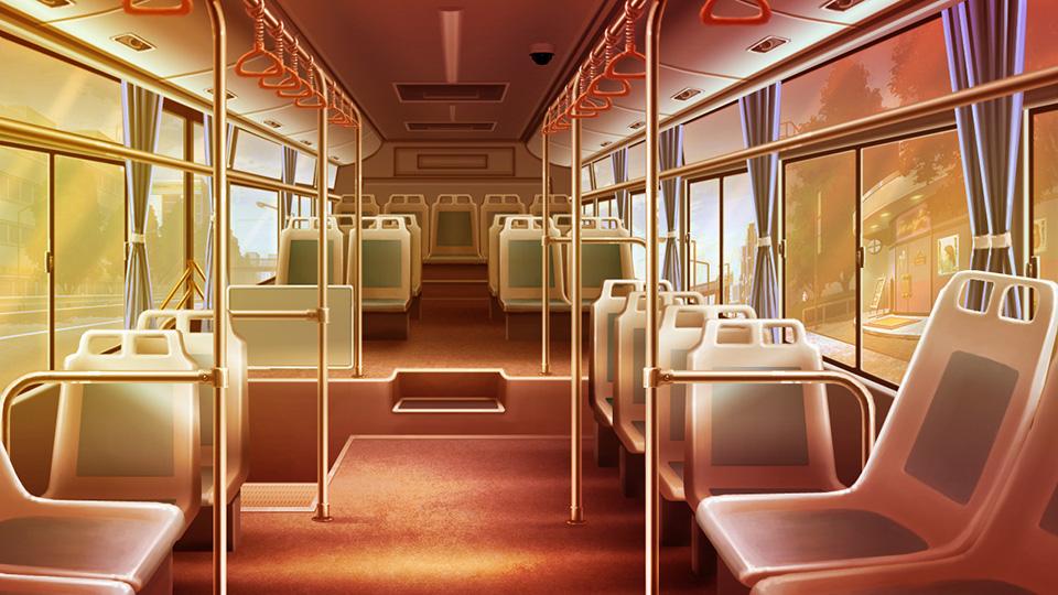 求橙光游戏巴士内部的背景图片