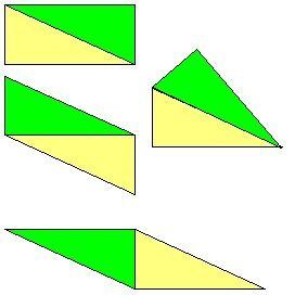 两个完全一样的直角三角形可以拼成几种平行四边形?图片