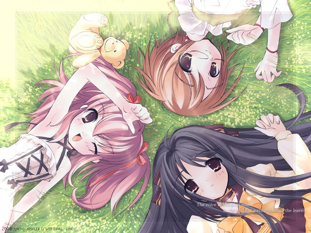 跪求三人的姐妹的图片,要一张图三个人的。越多越好 动漫的 百度知道