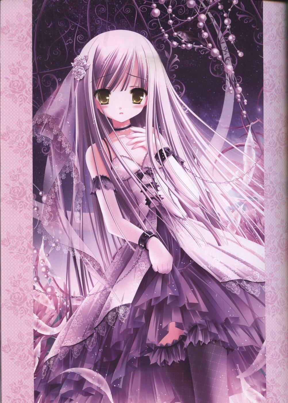紫色风格卡通美少女的图片要好看的哦
