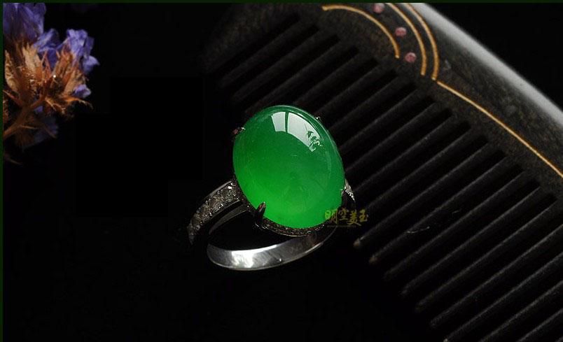 翡翠戒指款式图片