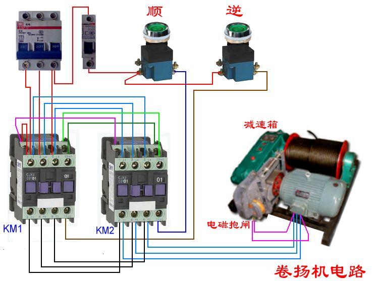 220v接触器直接接线图