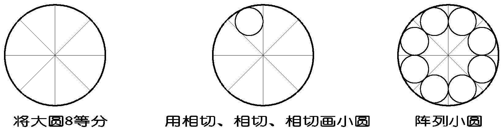 怎么在圆外画六个小圆