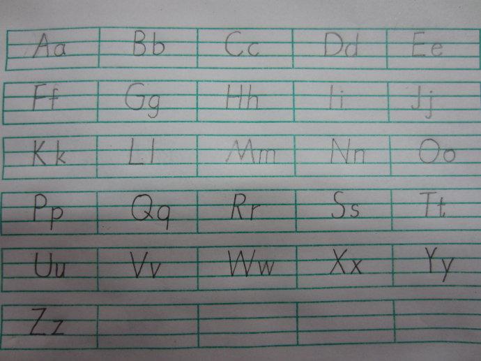 24个音序大小写