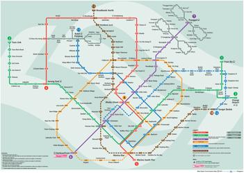 新加坡地铁图中文版
