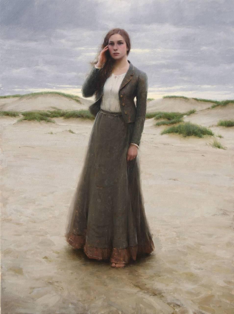 《少女大盗》中的那幅叫孤独的少女的油画