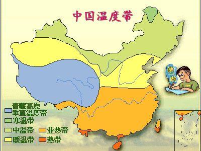 中国的温度带划分
