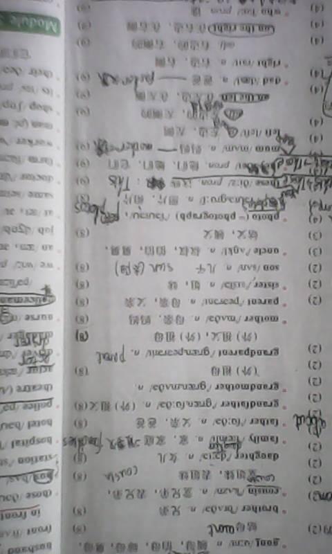 求七年级上,下册英语单词表单词全部图片