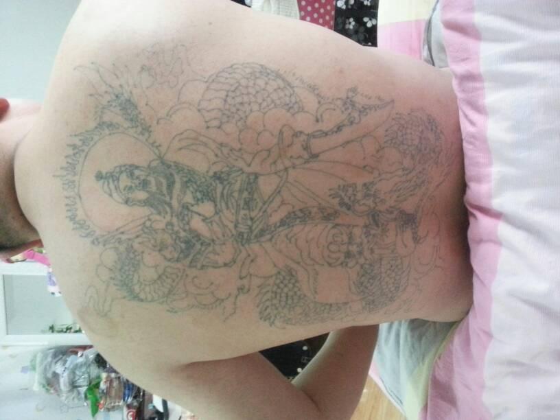 半甲花臂关公纹身分享展示_纹身图案图片