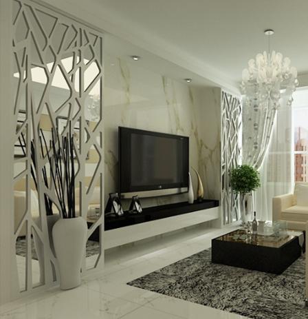 求教:知道客厅不适宜安装镜子,那外面有雕花的可以吗?图片