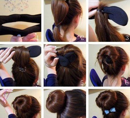 简单易学的盘发方法图图片