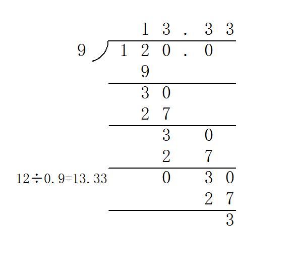 27.1除以0.9的竖式