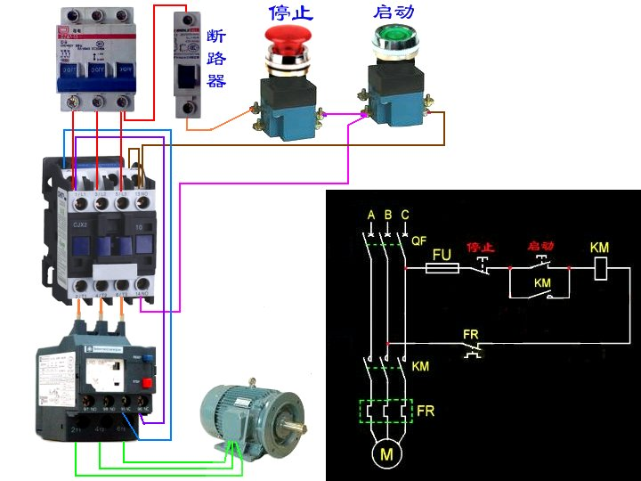三相电机接线图片