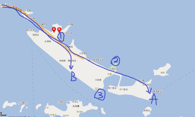 上海到大洋山岛