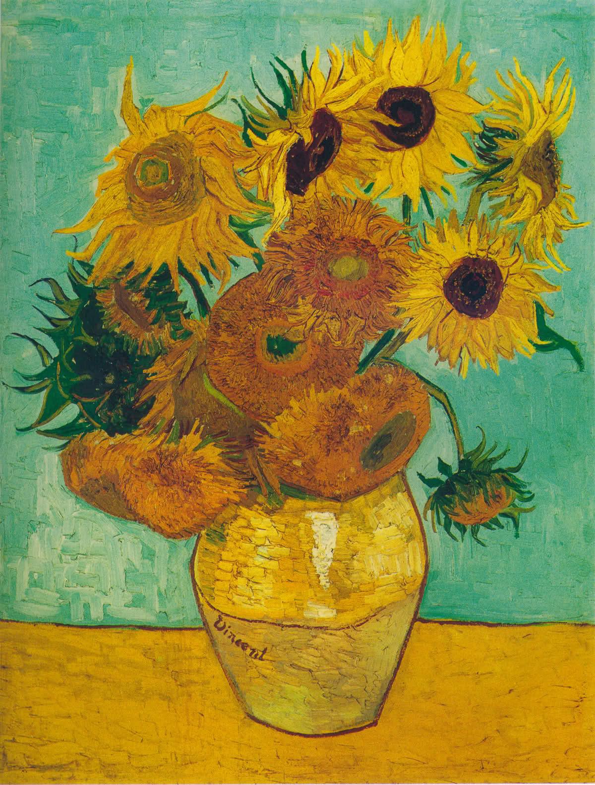 梵高的向日葵高清图片