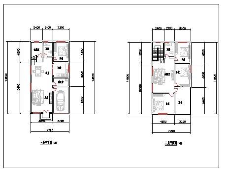 求一套农村房屋的设计图,长十三米宽十米的二层楼房图片
