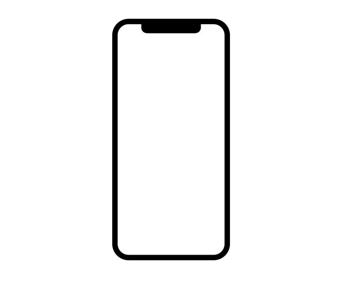 """流行的全面屏设计:边缘到边缘,顶部到底部,不同的是它有一个""""刘海"""".图片"""