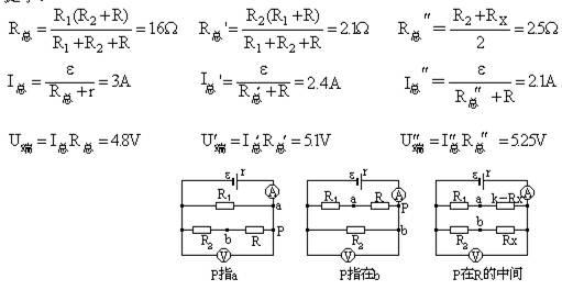电路中e=3,r=0.5