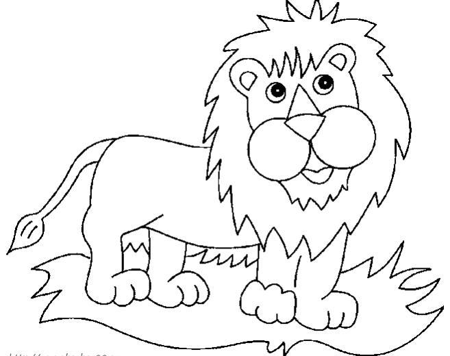 怎样画狮子图片