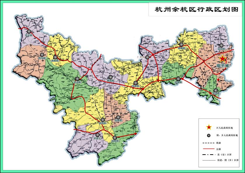 杭州市老余杭和新余杭怎么划分的答:以前的余杭面积很大,其中一部分图片