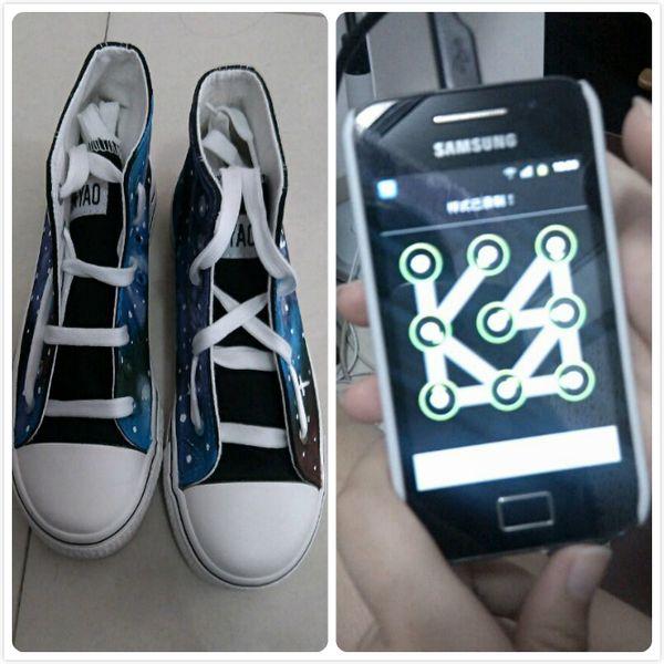 exo鞋带绑法 5个孔图片