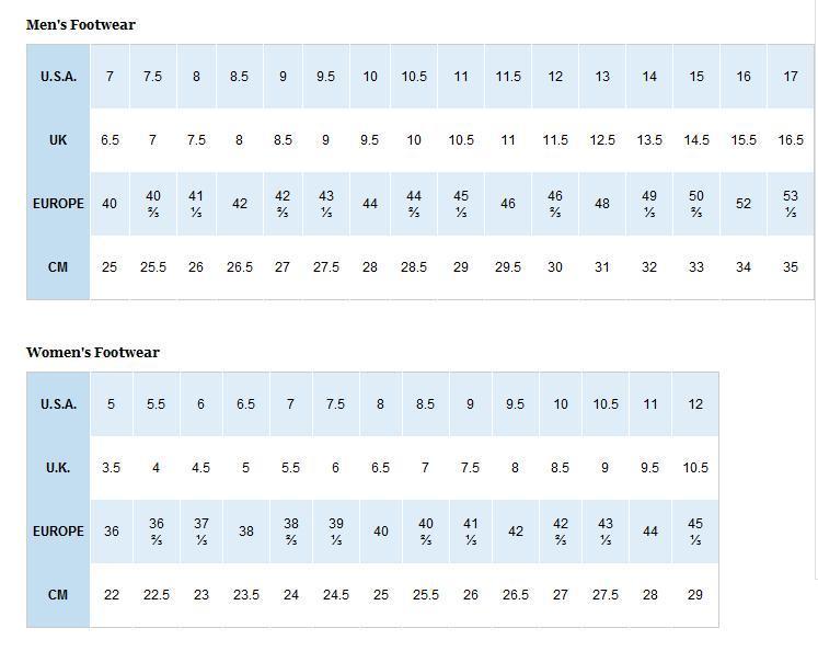 求columbia哥伦比亚鞋子尺码对照表?多谢!图片