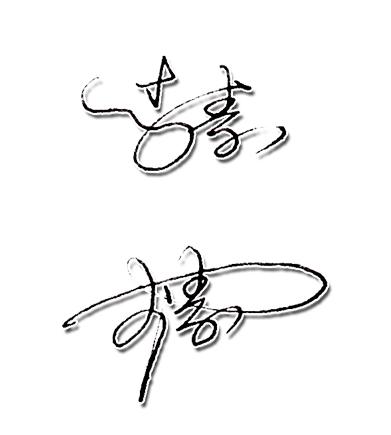 李素艺术签名设计手写稿图片