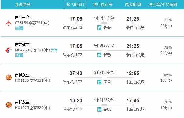 上海到长白山多少公里