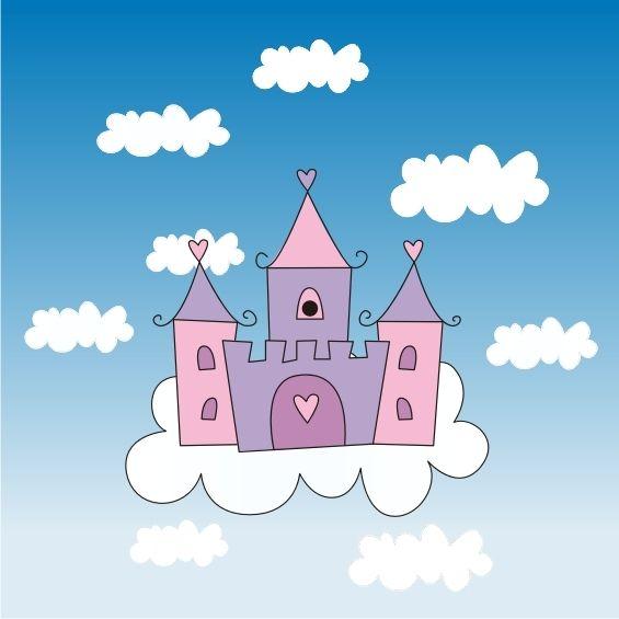 创意城堡儿童画 漂亮的城堡儿童画 冰激凌城堡儿童画