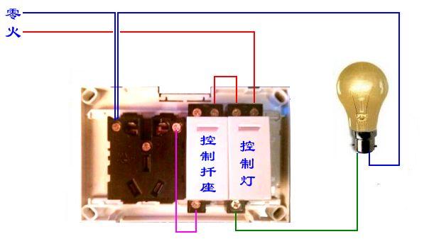 五孔一开关插座接线图