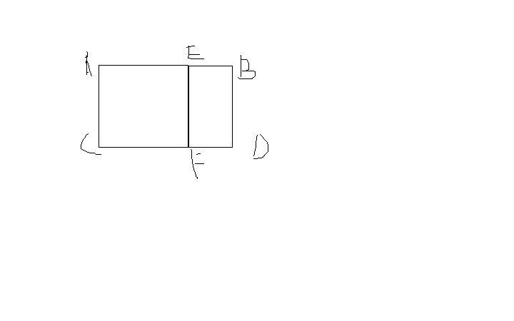 如图,矩形acdb中,ab=根号5 1,ac=2,且四边形acfe是一个正方形,试问:点图片
