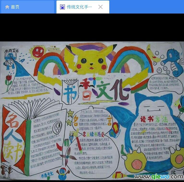 传统文化的手抄报怎么画?
