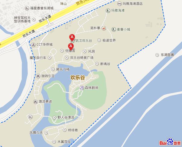 武汉欢乐谷地图?图片