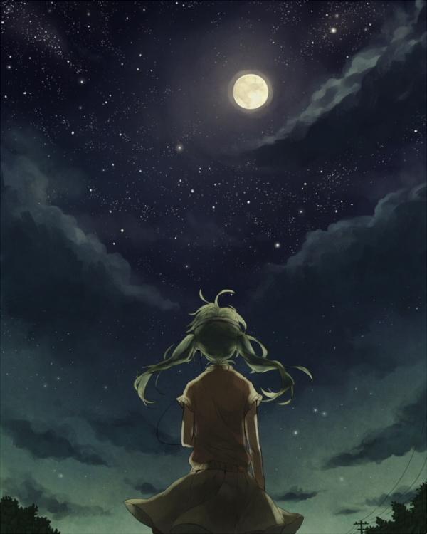 求仰望星空的动漫图片,像这种_百度知道