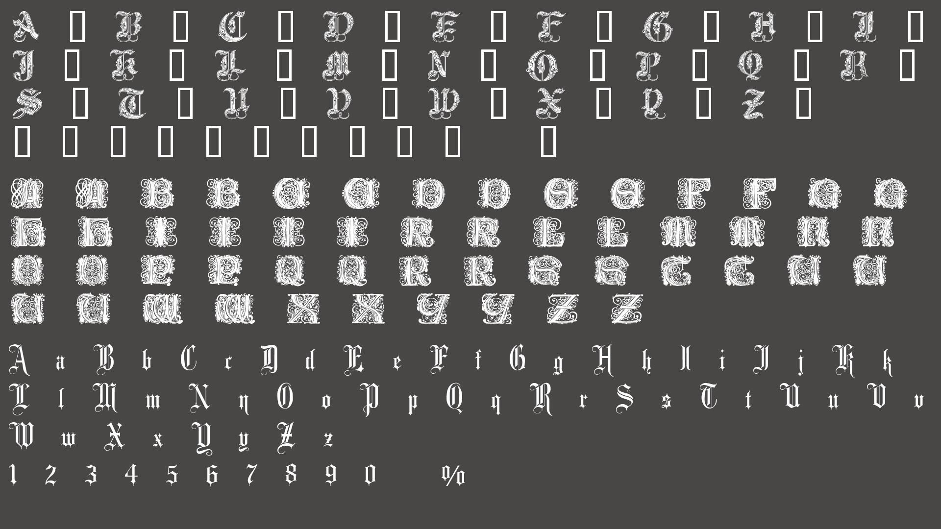 均没有数字字体(只有字母)所以没办法图片