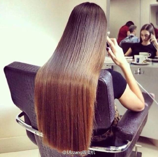 如何让我的头发像图片中的头发一根一根的 也就是柔顺图片