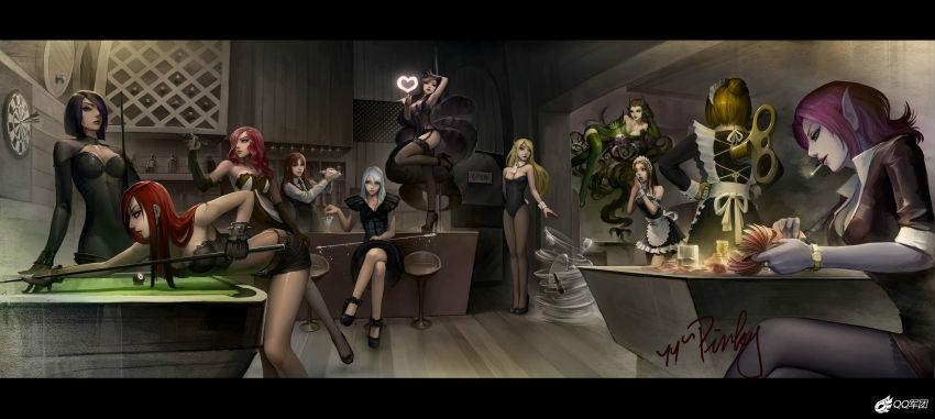 攻略是画的联盟原图从左往右:生存剑姬-菲奥娜,不祥之刃-卡特琳娜无双英雄全境v攻略图片