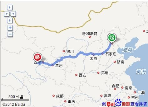 北京到青海湖多少公里