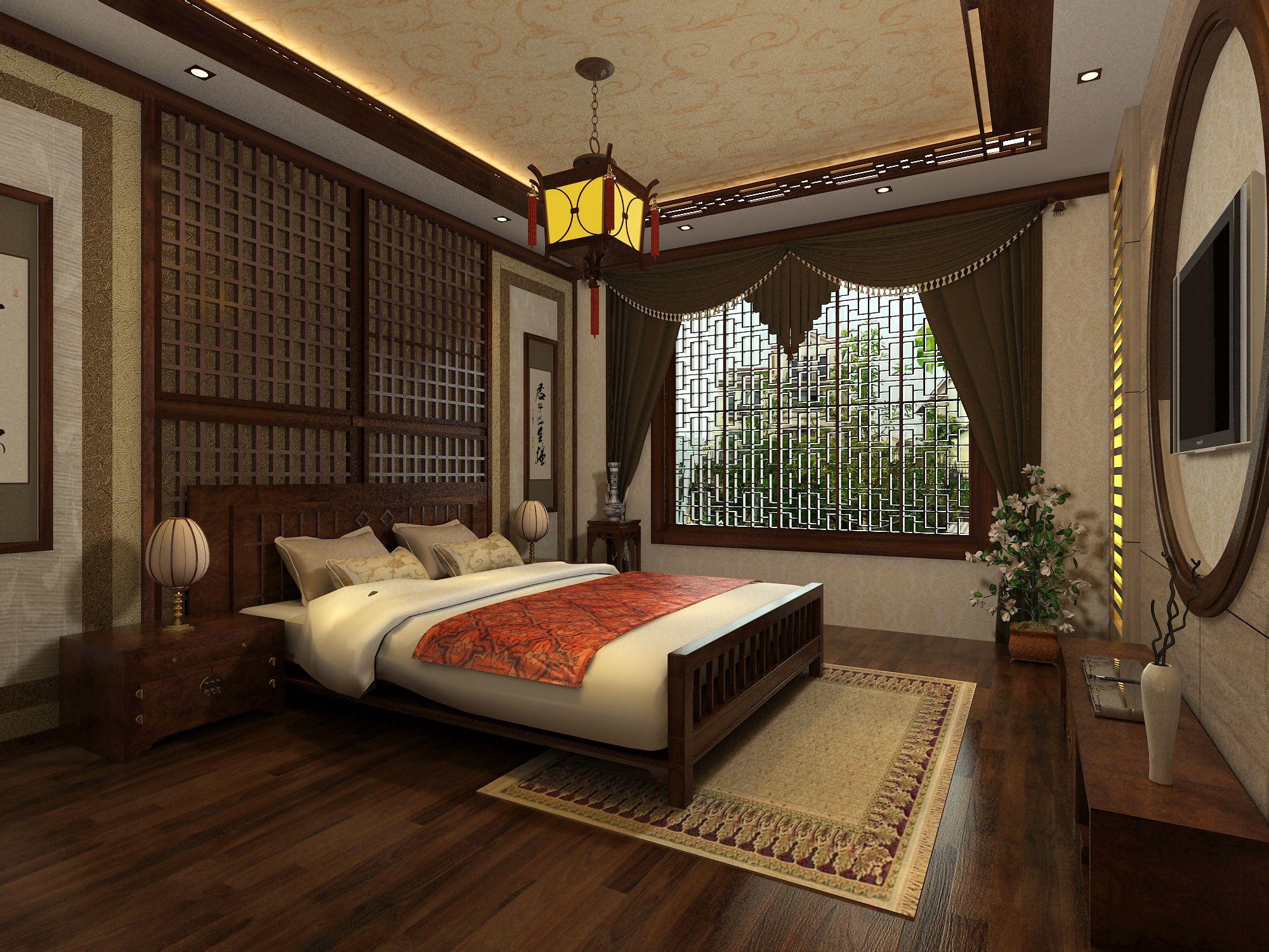 谁可以告诉我这两张床后面这个木质的在中式叫什么?图片