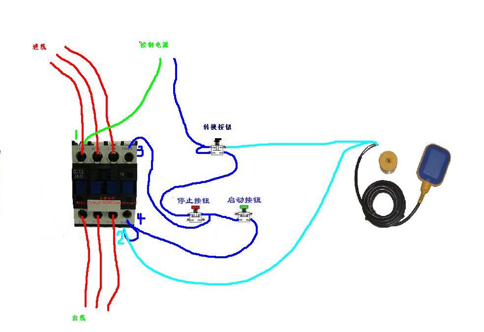 时间继电器控接线图; 红绿按钮开关接线图; 图片