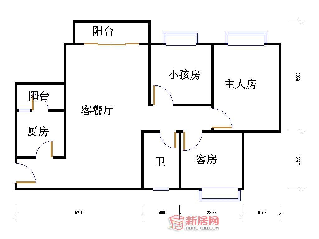 农村自建二屋三房二厅二卫平面设计图图片